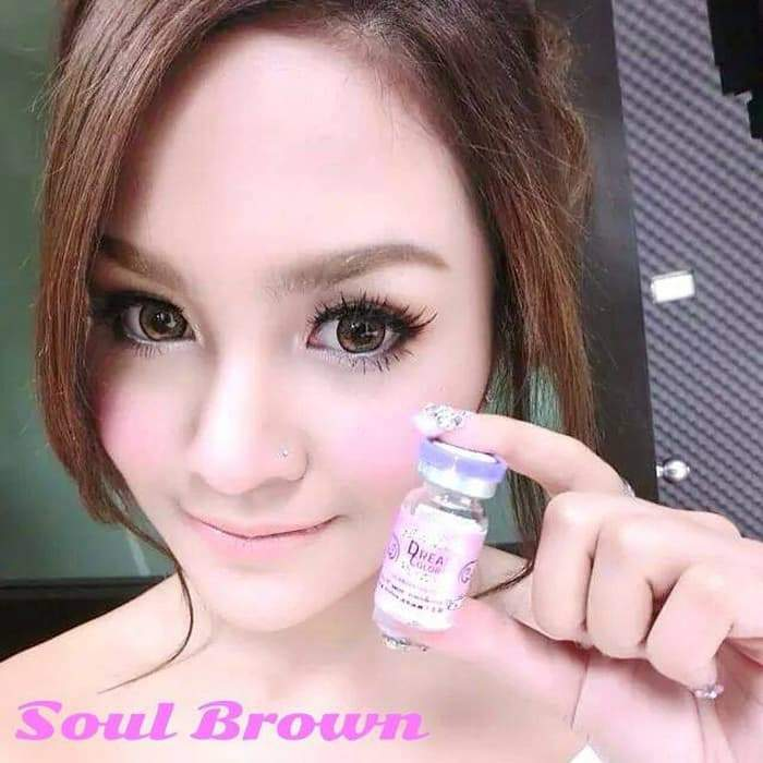COLORED CONTACTS DREAM COLOR SOUL BROWN - Lens Beauty Queen