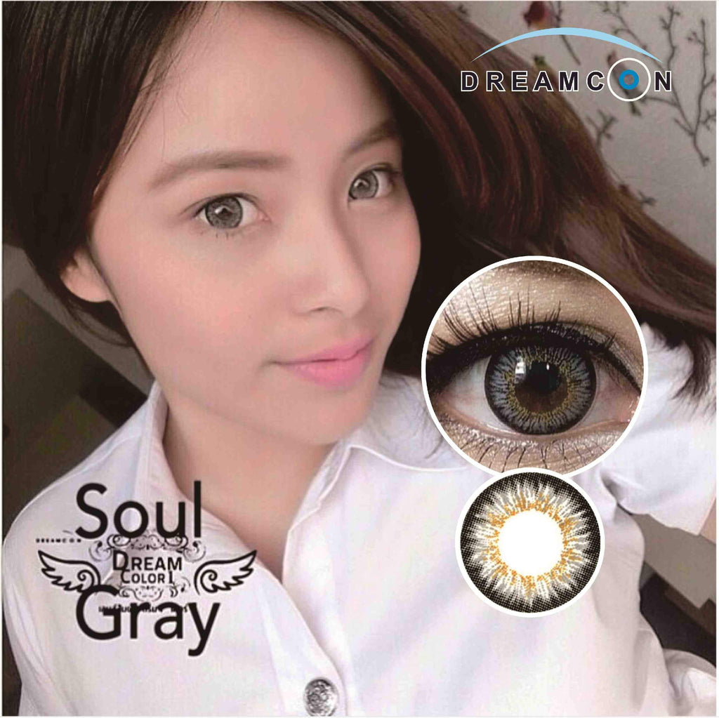 COLORED CONTACTS DREAM COLOR SOUL GRAY - Lens Beauty Queen
