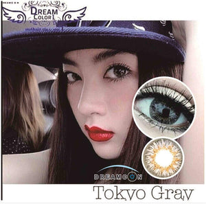 COLORED CONTACTS DREAM COLOR TOKYO GRAY - Lens Beauty Queen