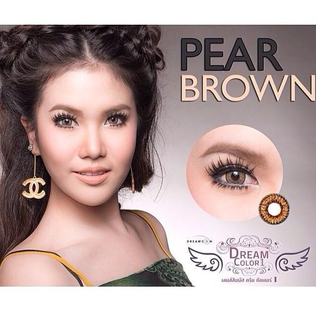 COLORED CONTACTS DREAM COLOR PEAR BROWN - Lens Beauty Queen