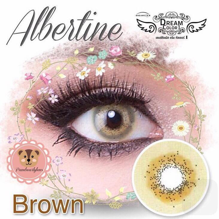 COLORED CONTACTS DREAM COLOR ALBERTINE BROWN - Lens Beauty Queen