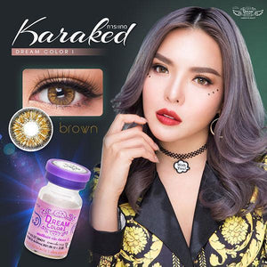 COLORED CONTACTS DREAM COLOR KARAKED BROWN - Lens Beauty Queen