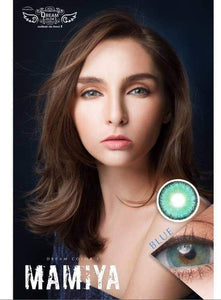 COLORED CONTACTS DREAM COLOR MAMIYA BLUE - Lens Beauty Queen