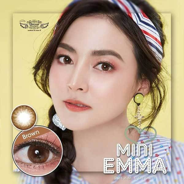 COLORED CONTACTS DREAM COLOR MINI EMMA BROWN - Lens Beauty Queen