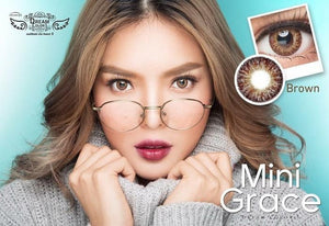 COLORED CONTACTS DREAM COLOR MINI GRACE BROWN - Lens Beauty Queen