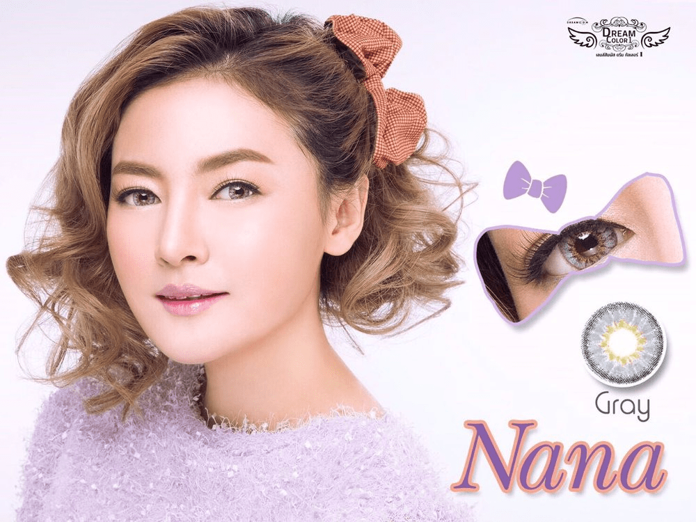 COLORED CONTACTS DREAM COLOR NANA GRAY - Lens Beauty Queen