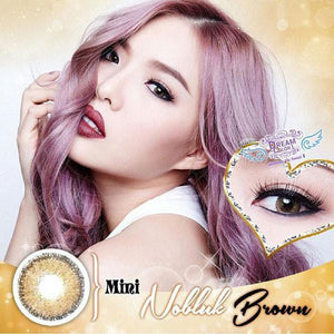 COLORED CONTACTS DREAM COLOR MINI NO BLUK BROWN - Lens Beauty Queen