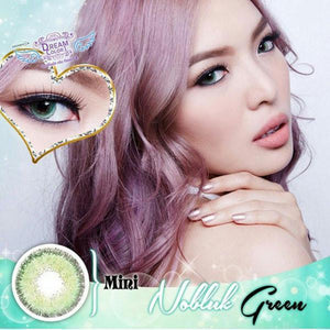 COLORED CONTACTS DREAM COLOR MINI NO BLUK GREEN - Lens Beauty Queen