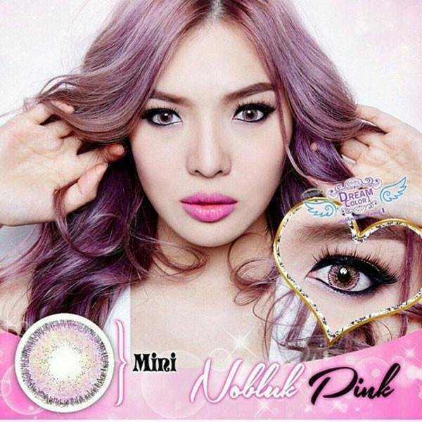 COLORED CONTACTS DREAM COLOR MINI NO BLUK PINK - Lens Beauty Queen