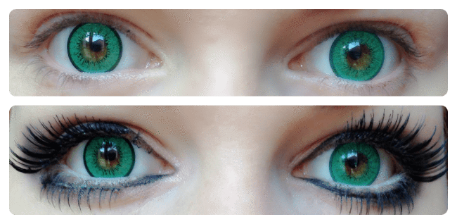 COLORED CONTACTS EOS BLYTHE EYE GREEN - Lens Beauty Queen