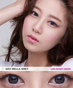 GRAY CONTACTS - COLORED CONTACTS GEO BELLA GREY - Lens Beauty Queen