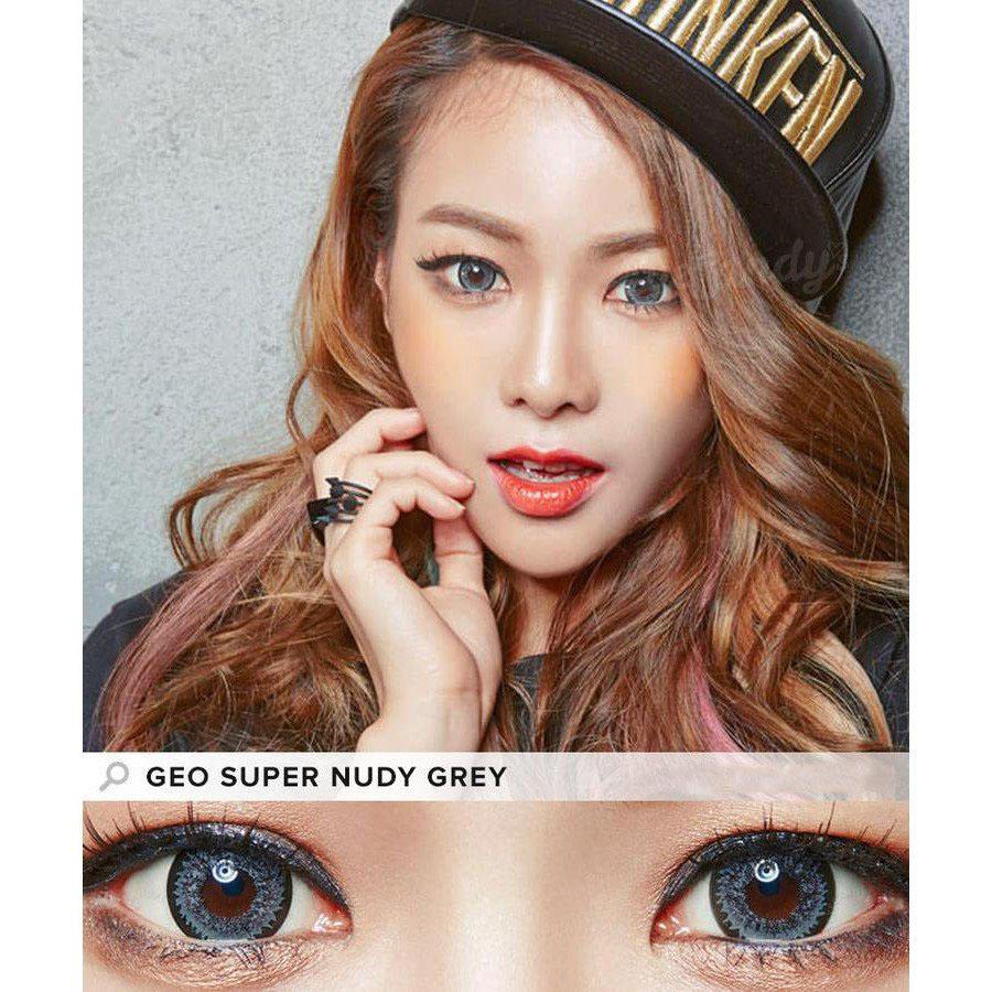 GRAY CONTACTS - GEO SUPER NUDY GRAY - Lens Beauty Queen