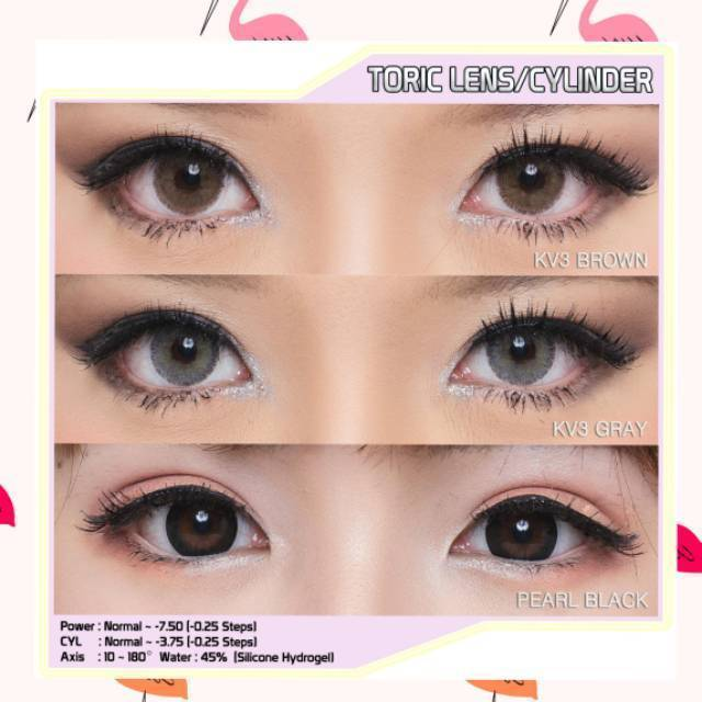 GRAY CONTACTS - EOS PRINCESS TORIC KV3 GRAY ASTIGMATISM LENSES - Lens Beauty Queen