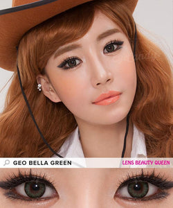 GREEN CONTACTS - COLORED CONTACTS GEO BELLA GREEN - Lens Beauty Queen