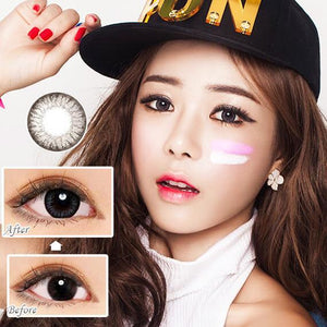 GREY CONTACTS - COLORED CONTACTS GEO FRESH GRAY - Lens Beauty Queen