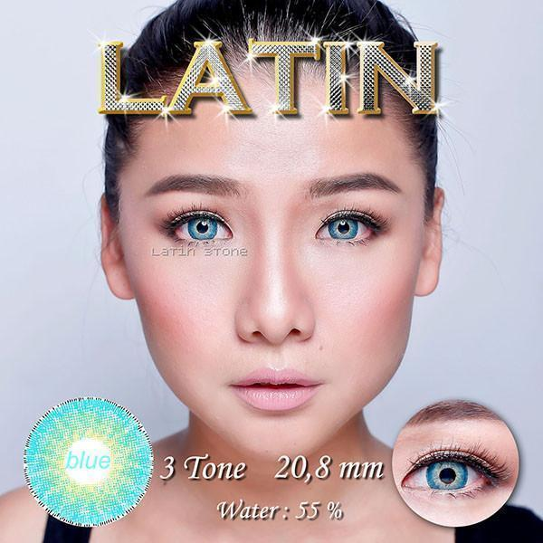 COLORED CONTACTS LATIN BLUE - Lens Beauty Queen