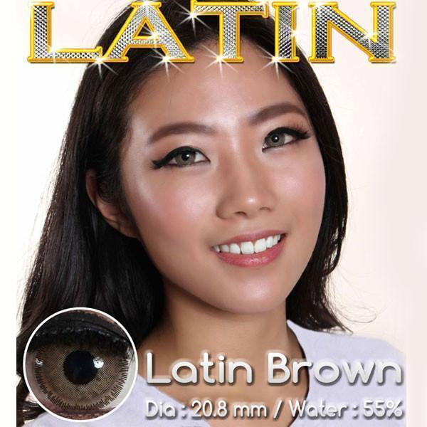 COLORED CONTACTS LATIN BROWN - Lens Beauty Queen