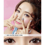 PINK CONTACTS - GEO SUPER NUDY PINK - Lens Beauty Queen