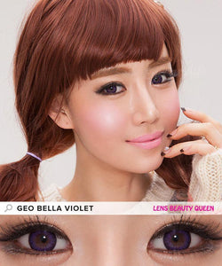 PURPLE CONTACTS - COLORED CONTACTS GEO BELLA VIOLET - Lens Beauty Queen