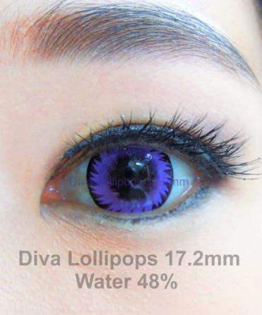 PURPLE CONTACTS - DIVA LOLLIPOPS VIOLET - Lens Beauty Queen