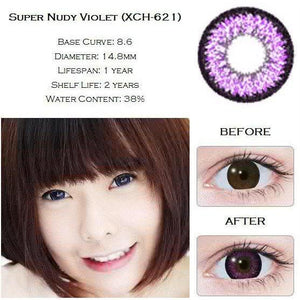 PURPLE CONTACTS - GEO SUPER NUDY VIOLET - Lens Beauty Queen