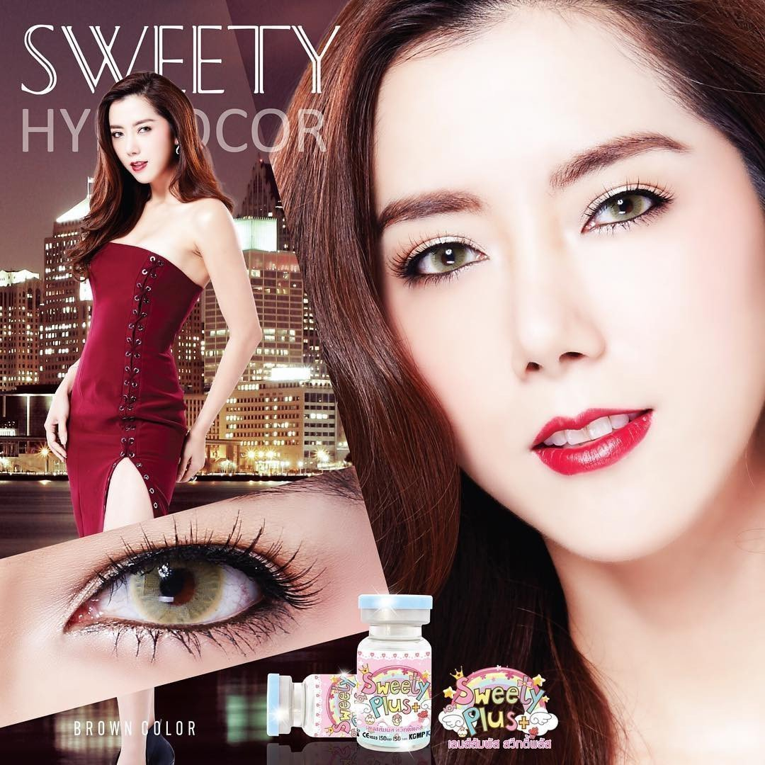 COLORED CONTACTS SWEETY HYDROCOR BROWN - Lens Beauty Queen