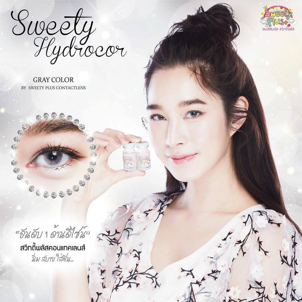 COLORED CONTACTS SWEETY HYDROCOR GRAY - Lens Beauty Queen