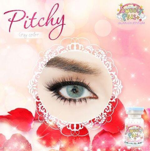 COLORED CONTACTS SWEETY PITCHY GRAY - Lens Beauty Queen