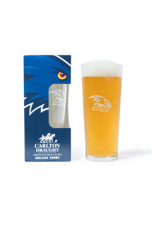 Carlton Draught &  Adelaide Crows AFL 425ml Boxed Glass