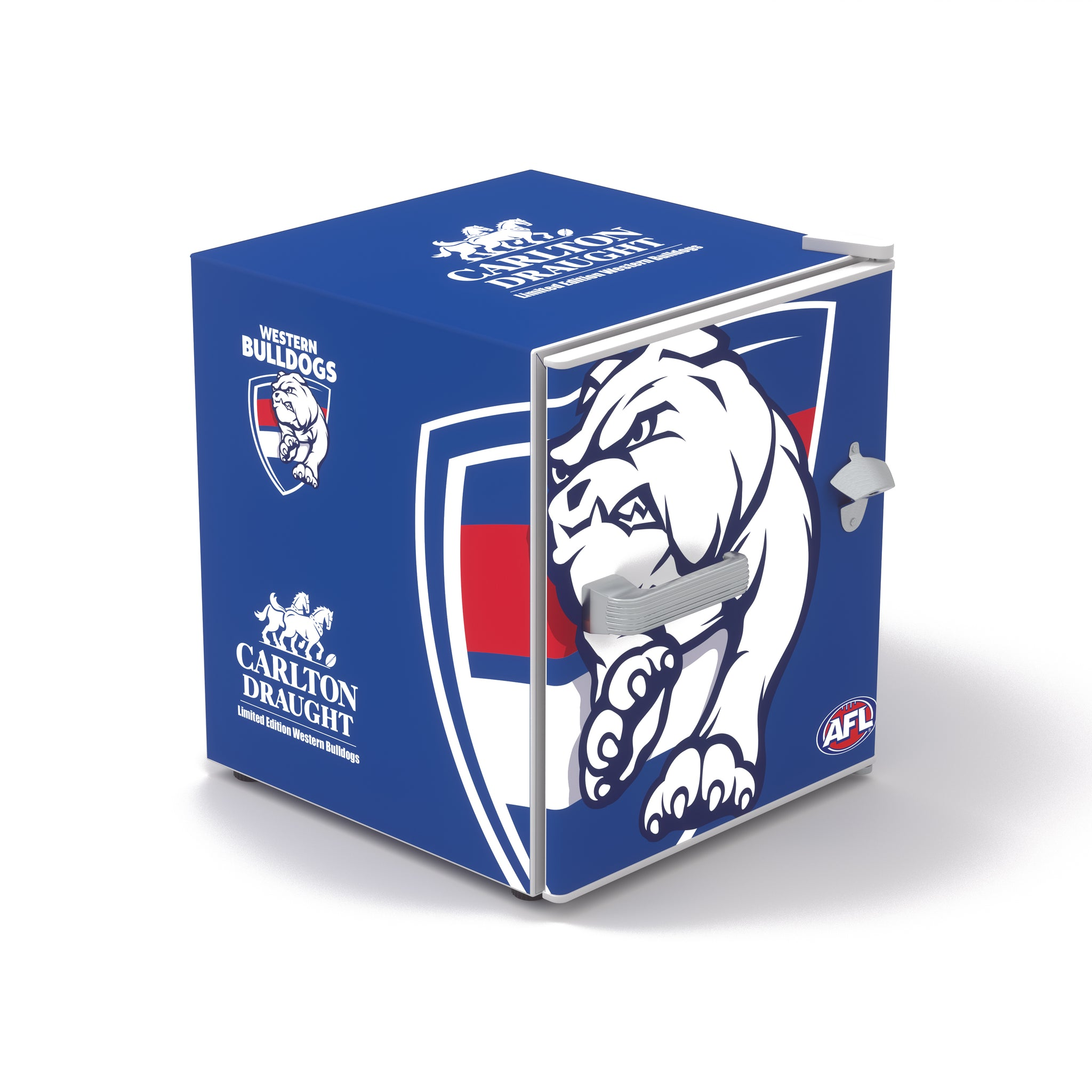 Carlton Draught x Western Bulldogs AFL Bar Fridge