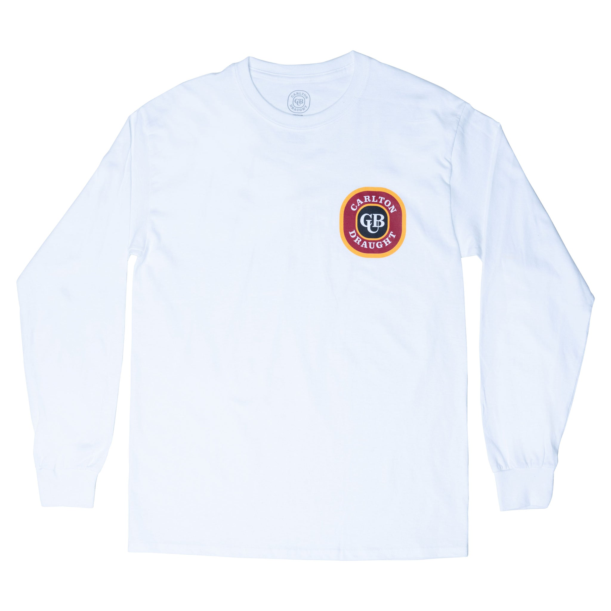 Carlton Draught Heritage Long Sleeve Tee White