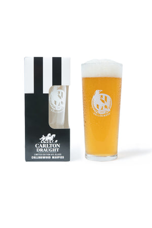 Carlton Draught &  Collingwood AFL 425ml Boxed Glass