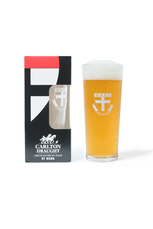 Carlton Draught &  St Kilda AFL 425ml Boxed Glass