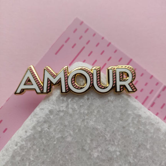 Valentine's Day | Amour pin | rose gold enamel  | 50-11m