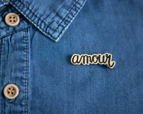 Amour | gold black pin | 40-14mm