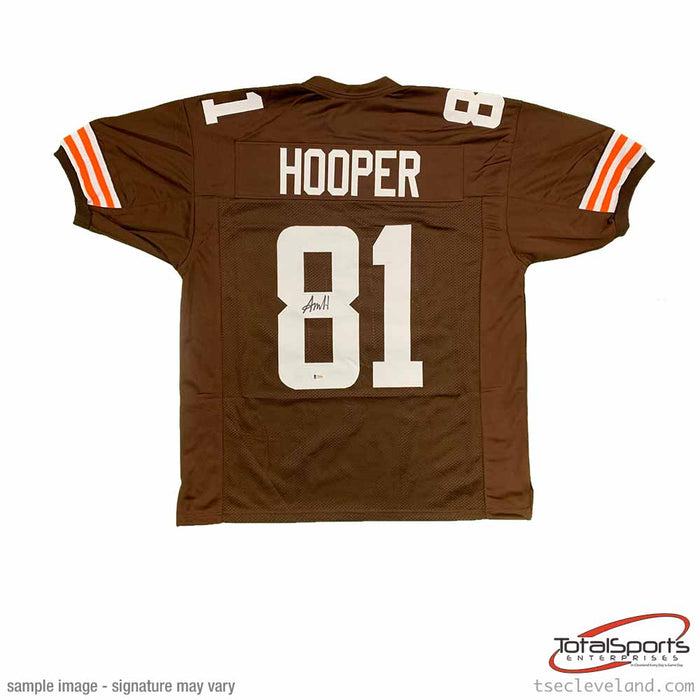 Austin Hooper Signed Brown Football Jersey