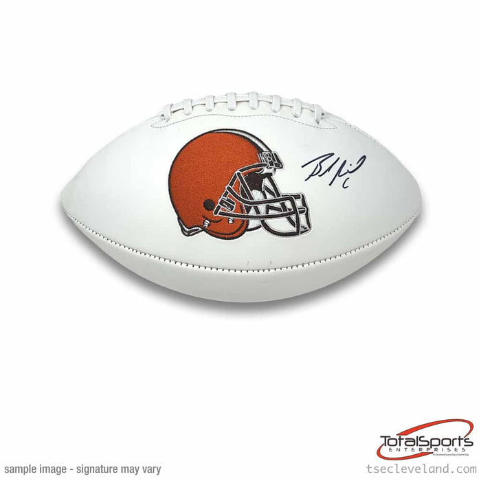 Baker Mayfield Signed Cleveland Browns White Logo Football