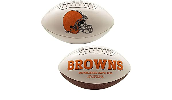 PRE-SALE: Brian Sipe Signed Cleveland Browns White Logo Football