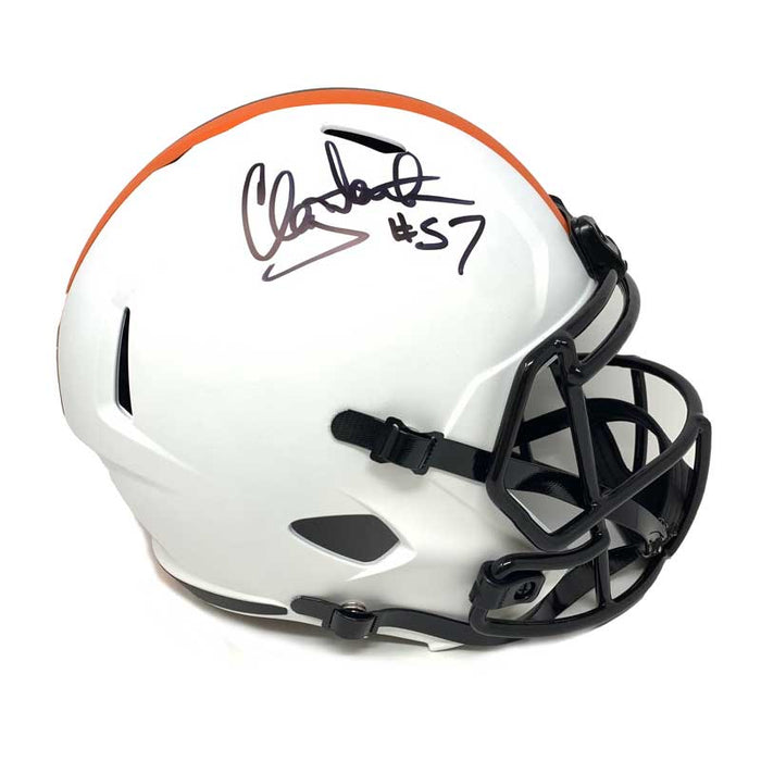 Clay Matthews Jr. Signed Cleveland Browns Lunar Eclipse Full Size Helmet