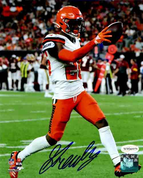 Greedy Williams Signed 8x10 Photo Holding Out Football