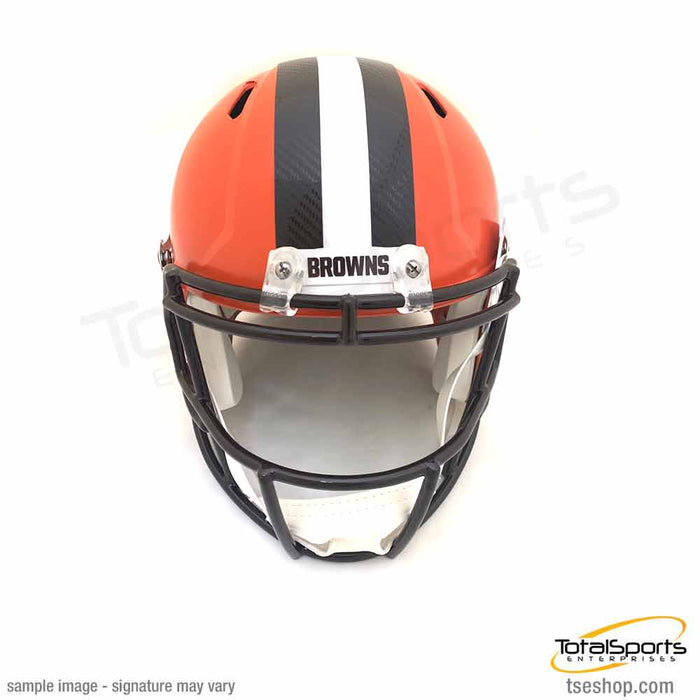 "Greedy Williams Signed Cleveland Browns Full Size SPEED Replica Helmet with ""NFL Debut 9/18/19"""