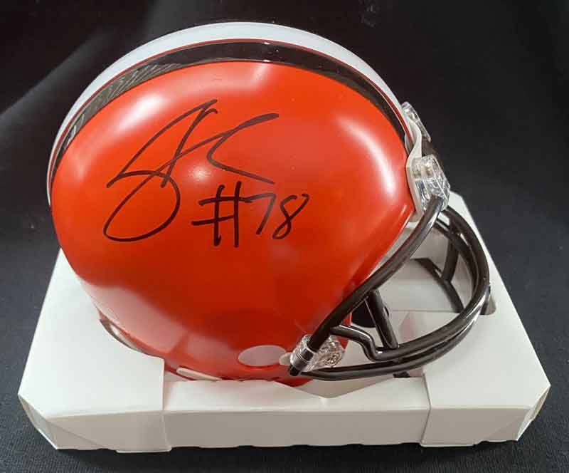 Jack Conklin Signed Cleveland Browns Mini Helmet