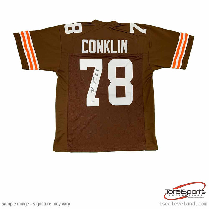 Jack Conklin Signed Custom Brown Jersey