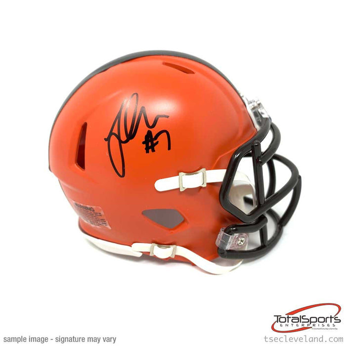 Jamie Gillan Signed Cleveland Browns Speed Mini Helmet