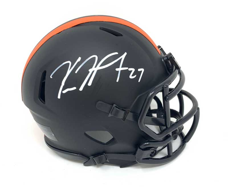 Kareem Hunt Signed Cleveland Browns Eclipse Mini Helmet