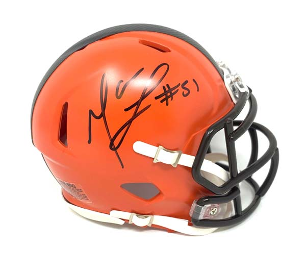 Mack Wilson Signed Cleveland Browns Speed Mini Helmet