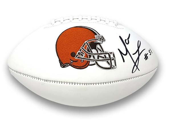 Mack Wilson Signed Cleveland Brown White Logo Football