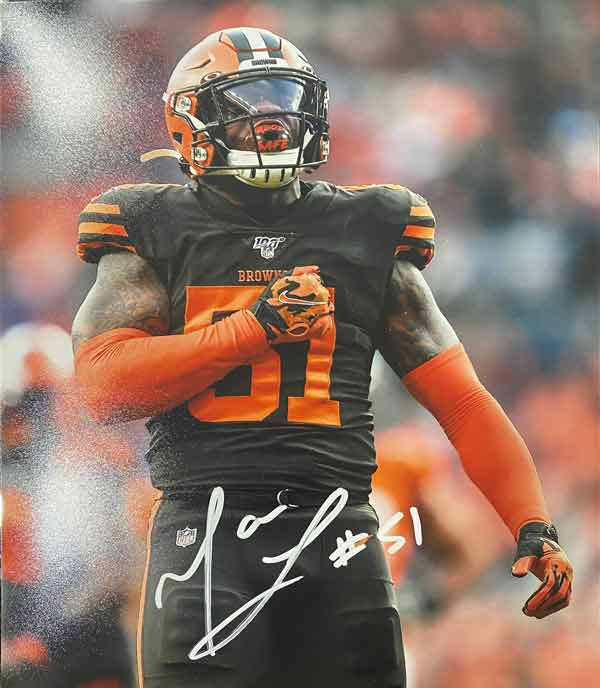 Mack Wilson Signed Beating Chest 8x10 Photo