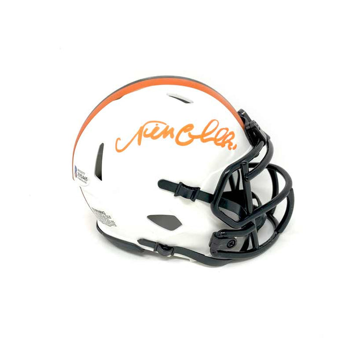 Nick Chubb Signed Lunar Eclipse Mini Helmet