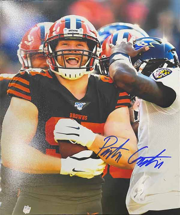 Porter Gustin Signed Holding Football 8x10 Photo